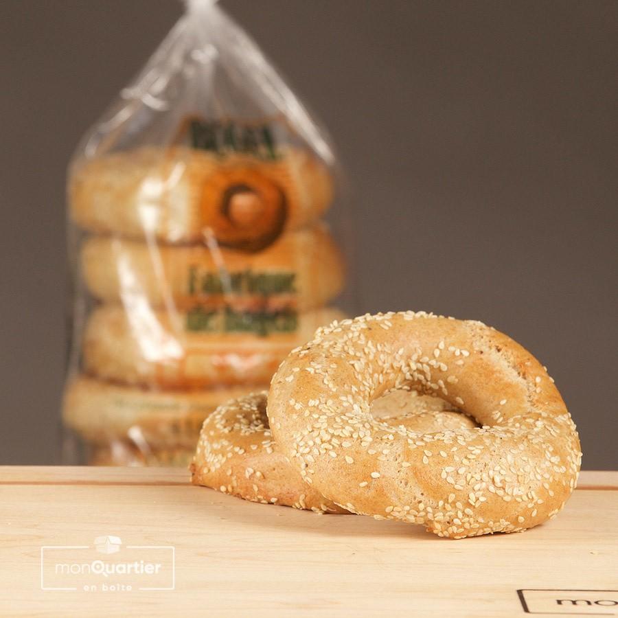 6 bagels au blé bio
