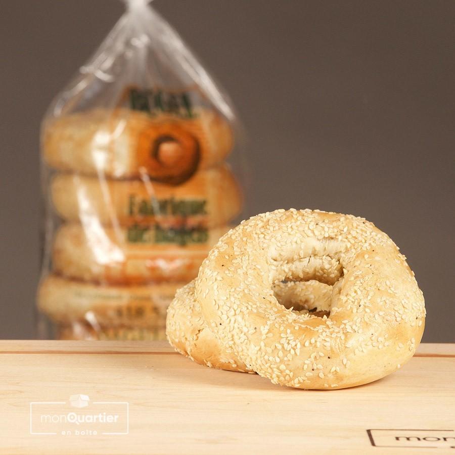 6 bagels au sésame
