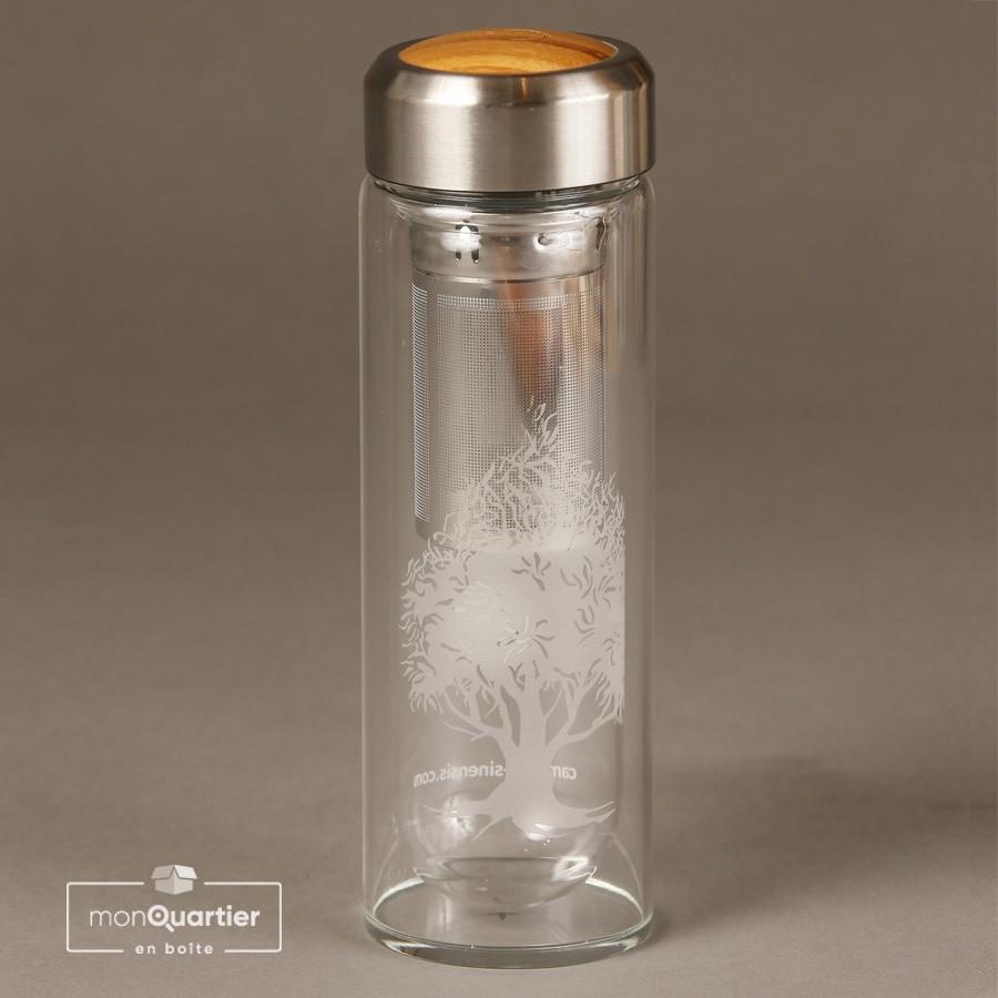 Bouteille à thé en verre