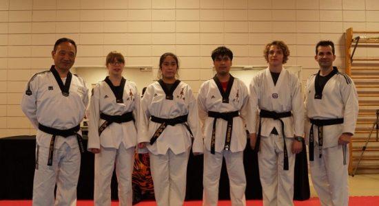 Première cohorte de ceintures noires en taekwondo au Centre Durocher - Monsaintsauveur
