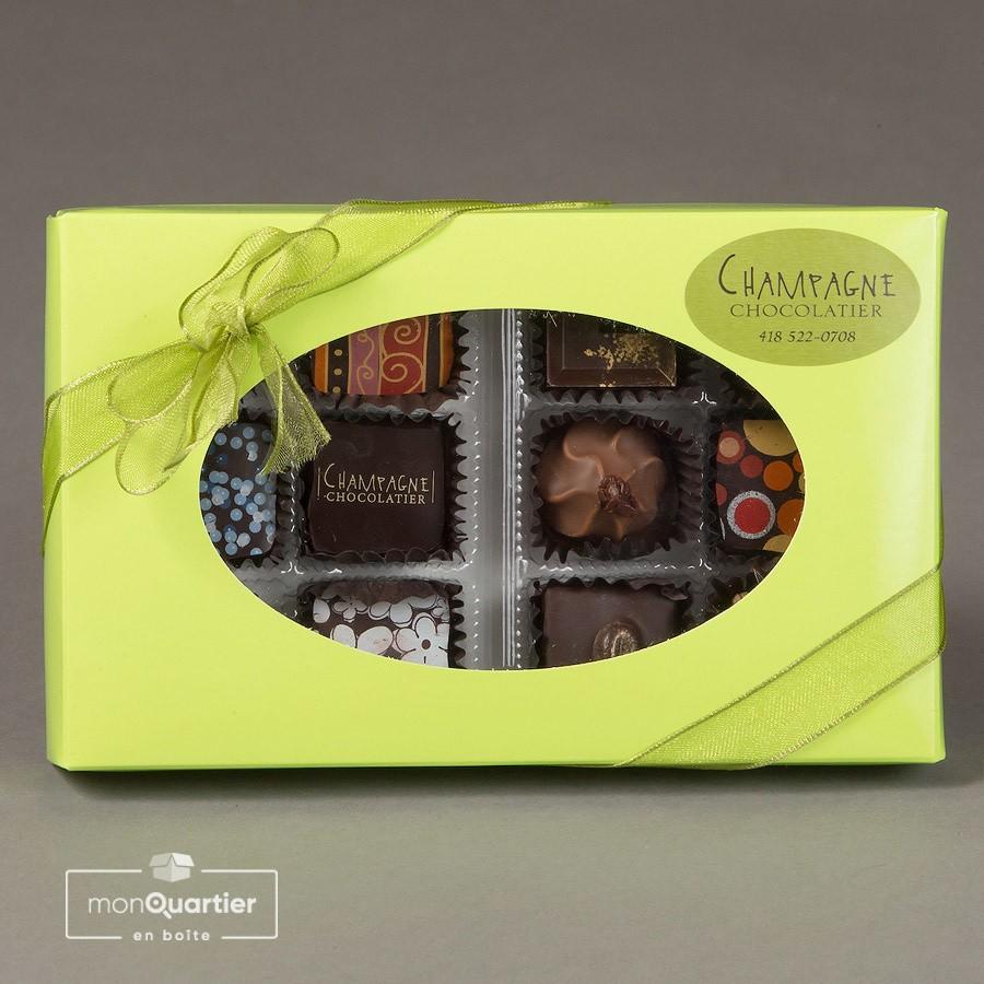 Boite de chocolats fins