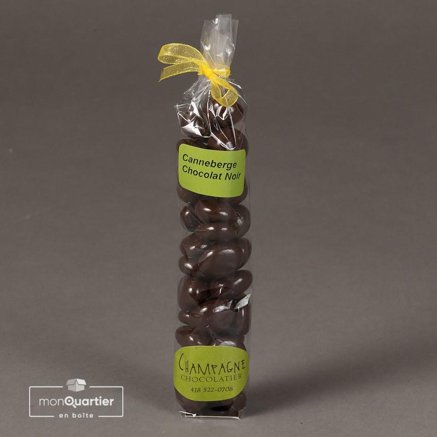 Canneberges au chocolat noir