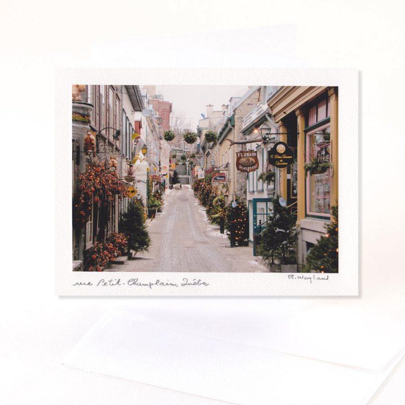 Carte de souhaits «Petit-Champlain»