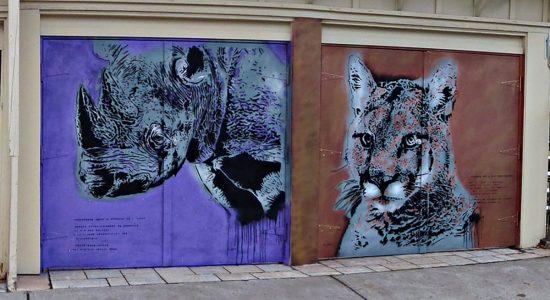 Des artistes d'art urbain à l'oeuvre sur l'avenue Cartier - Céline Fabriès