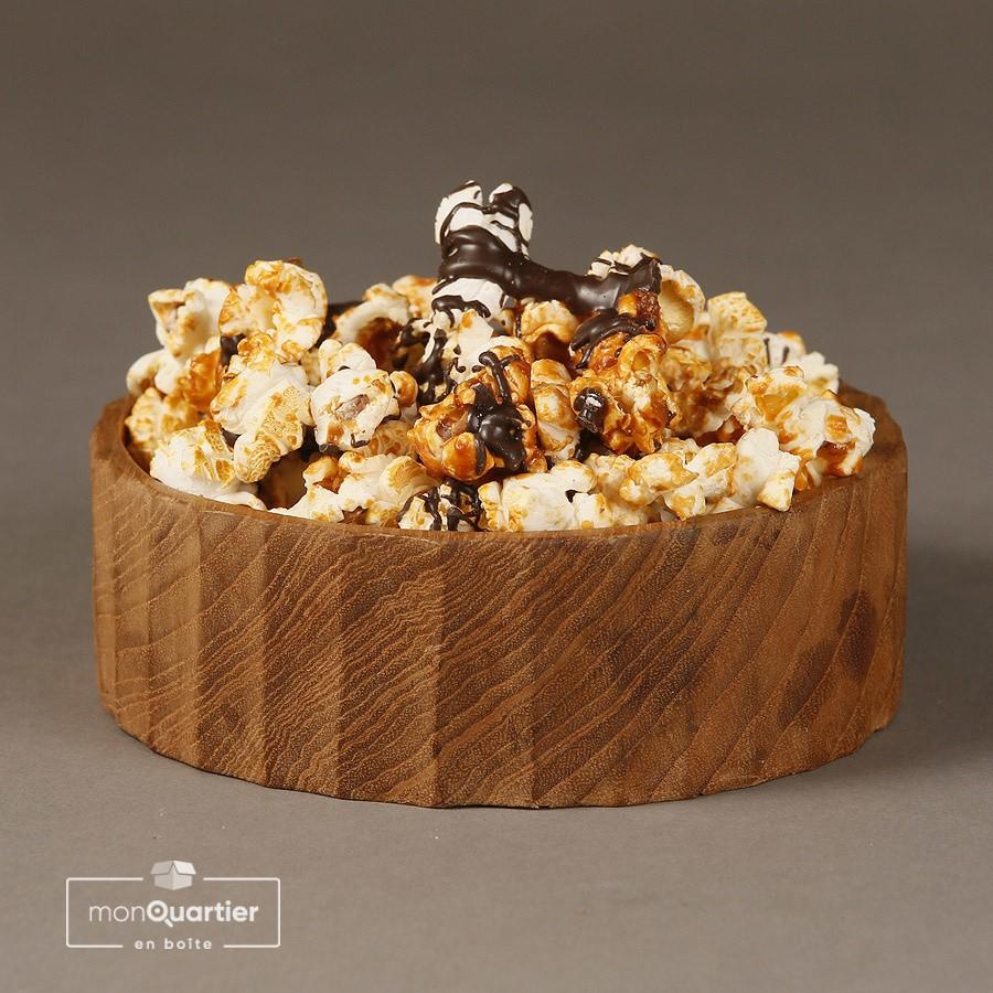 Pop-corn caramel salé et chocolat