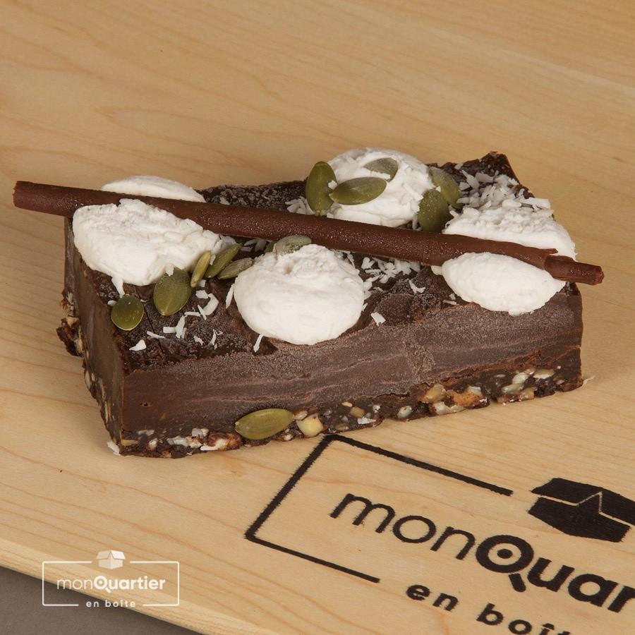 Gâteau cru cacao et chicorée