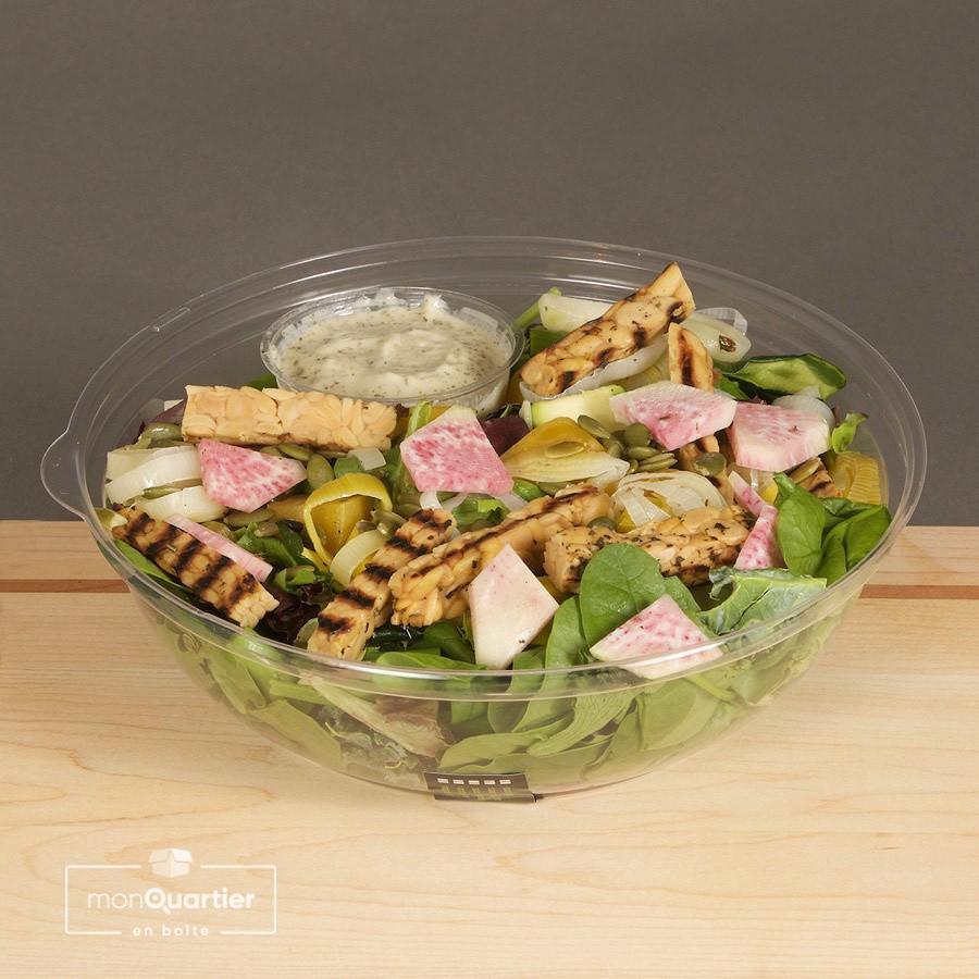 Salade au tempeh