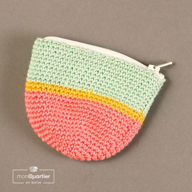 Porte-monnaie prêt-à-tricoter