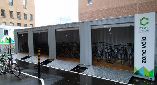 Des abris pour les vélos au Cégep Garneau - Marine Lobrieau