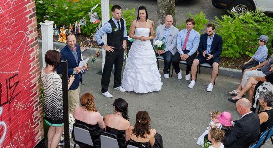 Un mariage dans les ruelles du Vieux-Limoilou - Jessica Lebbe