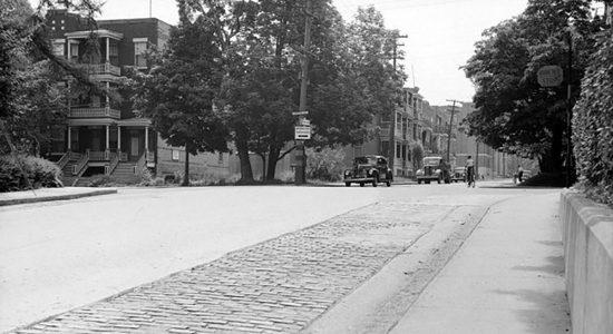 Intersection avenue Belvédère et Chemin Sainte-Foy en 1941 - Marine Lobrieau