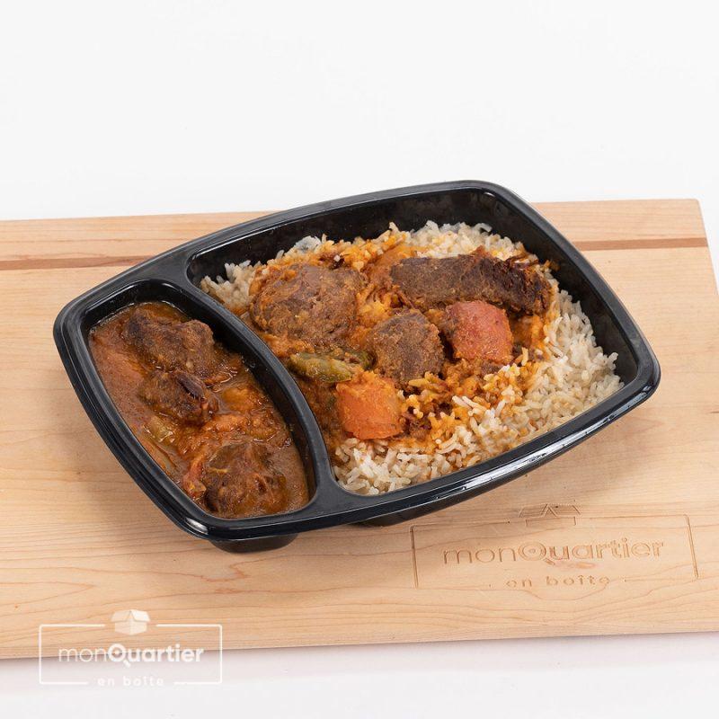 Boeuf bourguignon sur riz