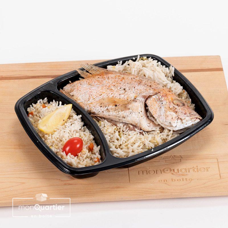 Vivaneau entier et riz