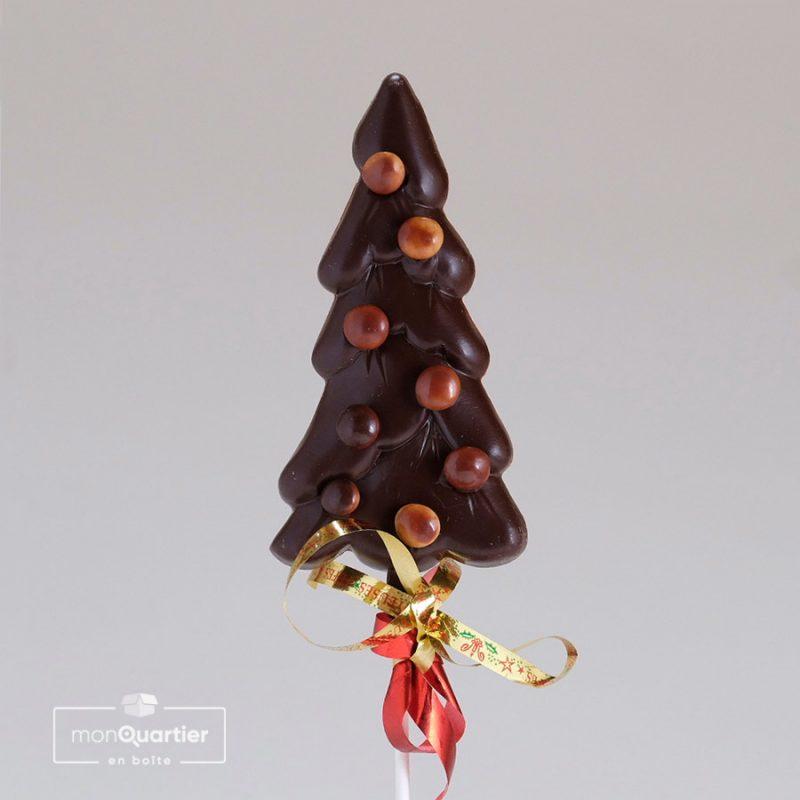 Sapin au chocolat noir