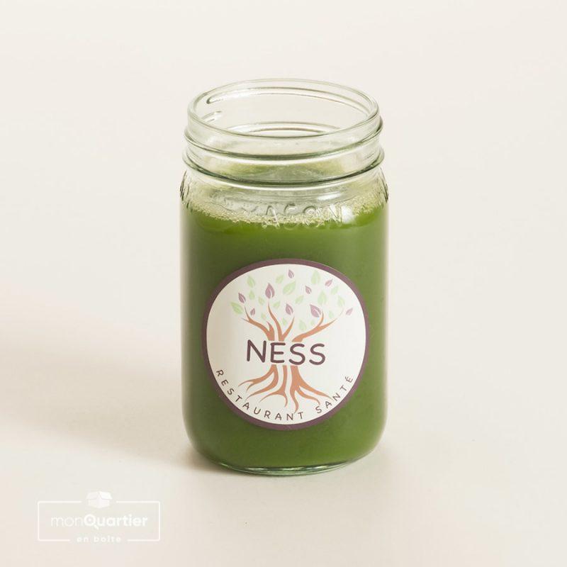 Jus de légumes vert pur