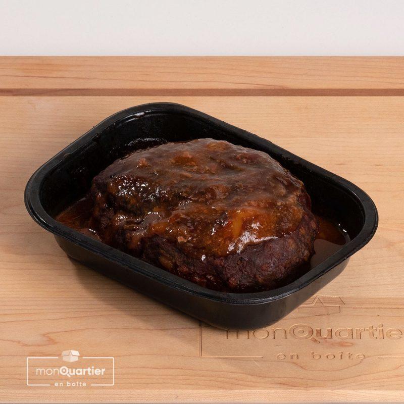 Pain de viande boeuf, fromage et balsamique