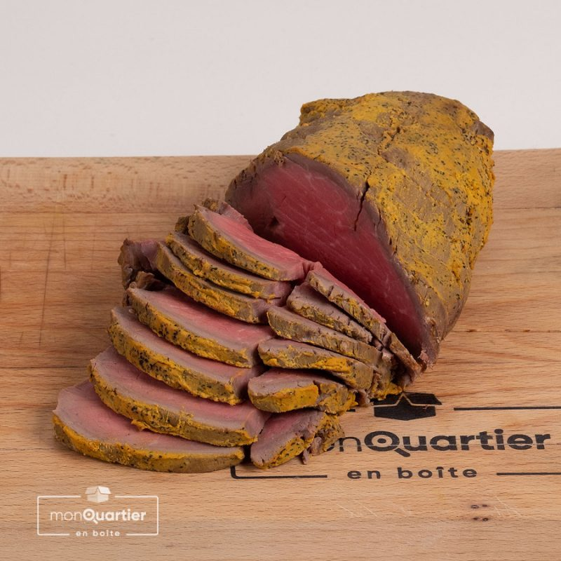 Roasted beef tranché