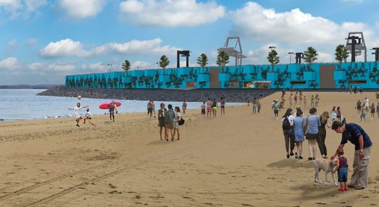Un mur de conteneurs végétalisé à la Baie de Beauport - Céline Fabriès