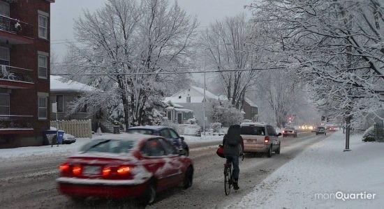 La Ville à l'écoute des cyclistes qui pédalent l'hiver - Ève Cayer