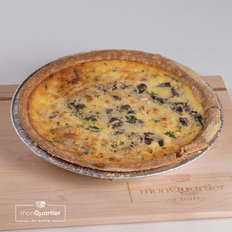 Quiche gourmande jambon-lardons-fromage