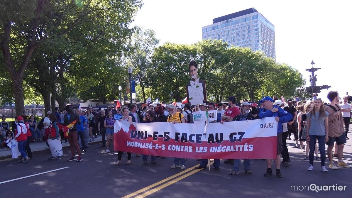 Derniers rassemblements face au G7 et aux arrestations | 10 juin 2018 | Article par Caroline Roy-Blais