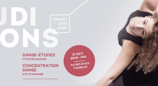 Auditions Concentration-danse et Danse-Études