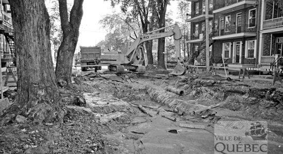 Limoilou dans les années 1980 (17) : travaux de voirie sur la 11e Rue - Jean Cazes