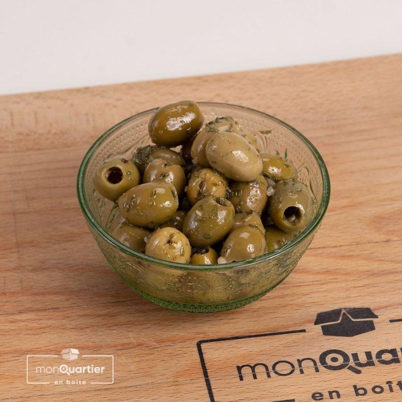 Olives vertes aux herbes