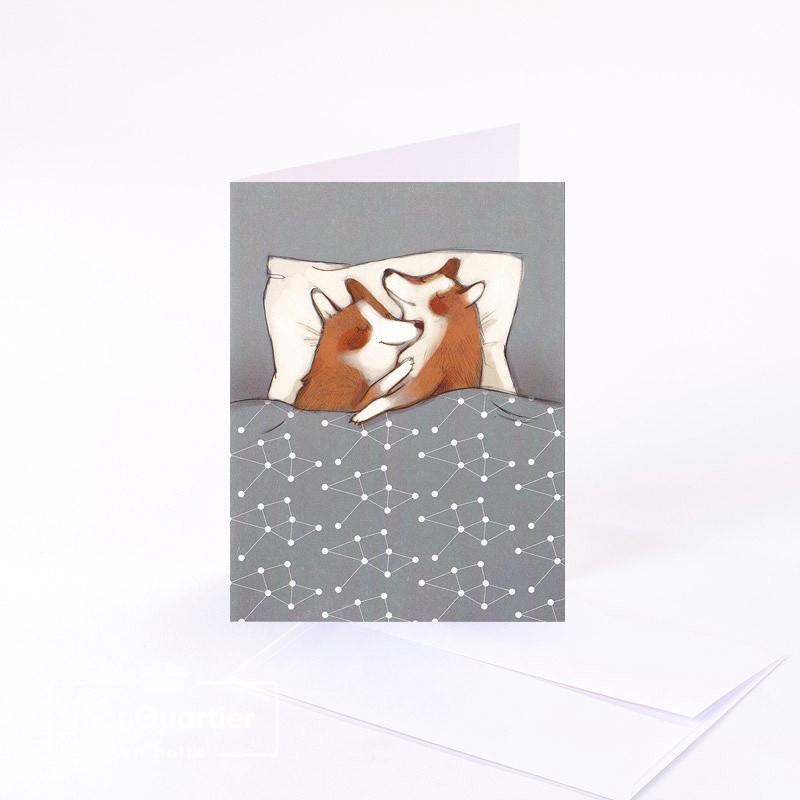 Carte de souhaits «collés»