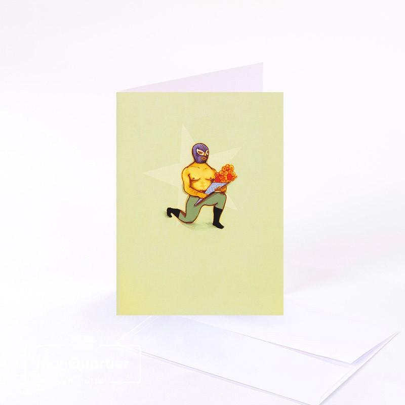 Carte de souhaits «à genou»
