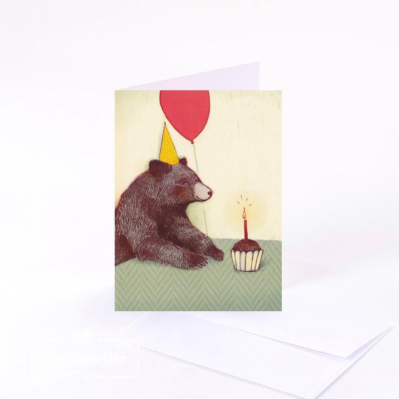 Carte de souhaits «ours»