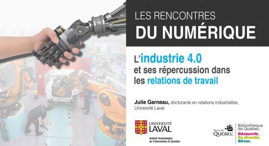 Industrie 4.0 et ses répercussions dans les relations de travail