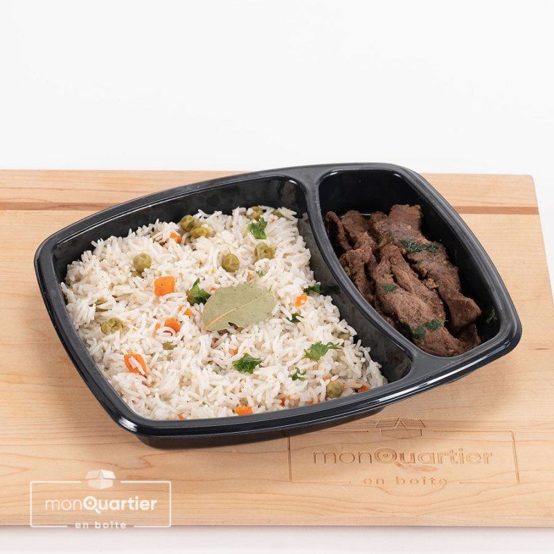 Shawarma sur riz