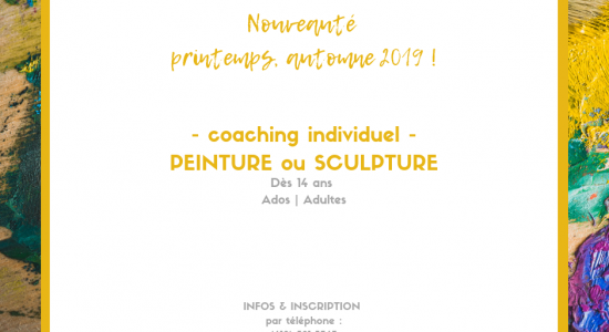 Coaching individuel en peinture ou sculpture NEW!
