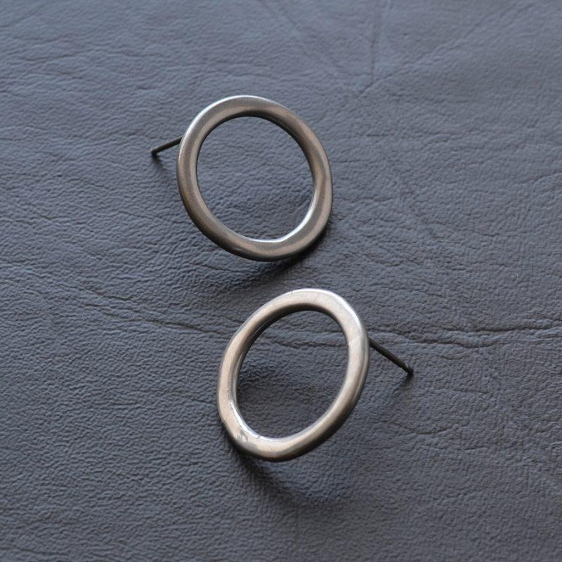 Boucles d'oreilles Cercle chrome