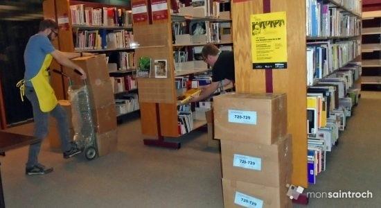 Marathon de déménagement à la bibliothèque Gabrielle-Roy - Suzie Genest