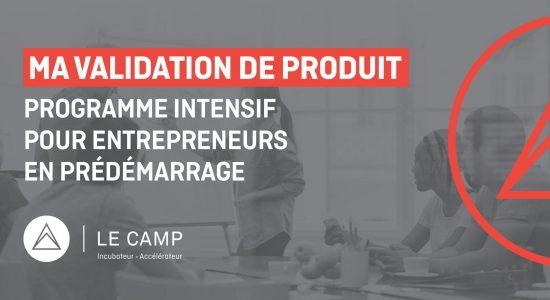 Ma validation de produit – Programme intensif MVP – Cohorte 19
