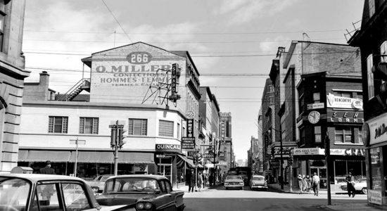 Saint-Roch dans les années 1960 (33) : intersection des rues Dorchester et Saint-Joseph Est - Jean Cazes