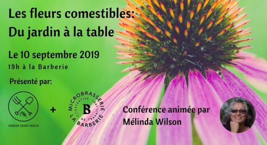 Conférence – Les fleurs comestibles: Du jardin à la table