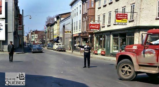 Saint-Sauveur dans les années 1960 (30) : agent de circulation sur Saint-Vallier Ouest - Jean Cazes