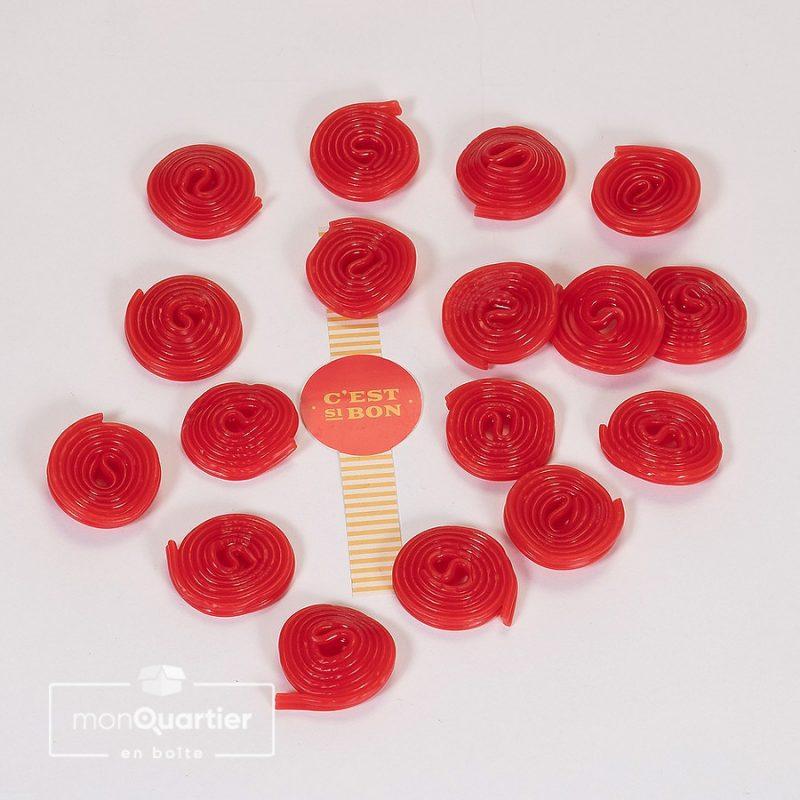 Spirales réglisse rouge
