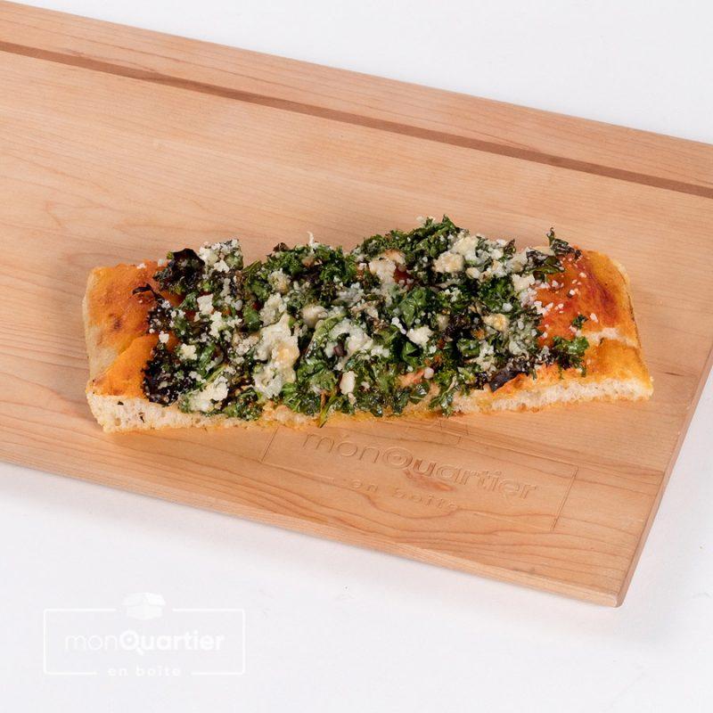 Focaccia kale parmigiano
