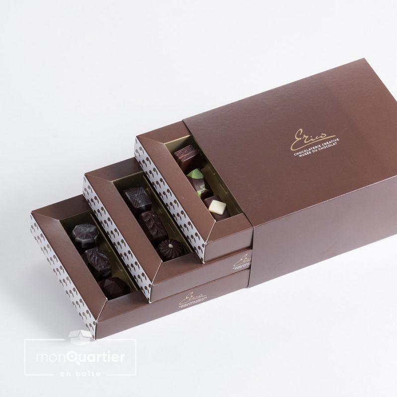 Boîte de chocolats fins