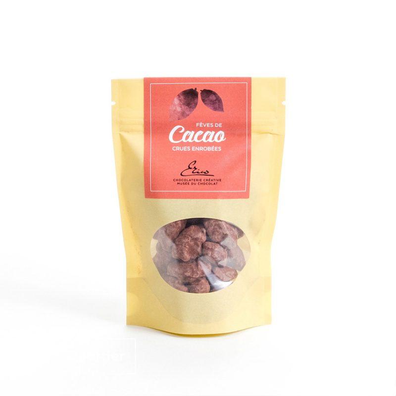 Fèves de cacao crues enrobées