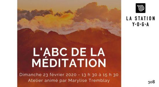 Atelier – L'abc de la méditation de pleine conscience