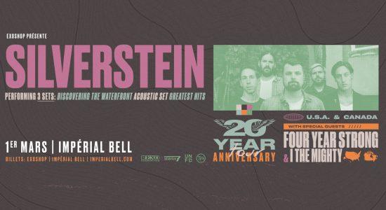 Silverstein – Tournée 20ième anniversaire avec Four Year Strong
