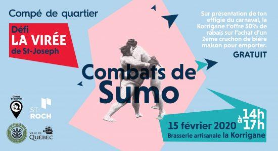 Combats de sumo à La Korrigane