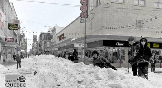 Saint-Roch dans les années 1970 (32) : après la Tempête du siècle sur la rue Saint-Joseph Est - Jean Cazes