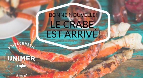 Le crabe est arrivé!