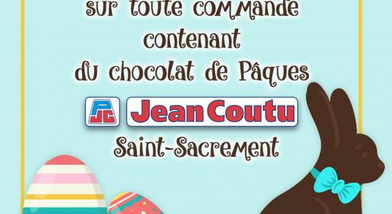 Livraison gratuite à l'achat de chocolat de Pâques